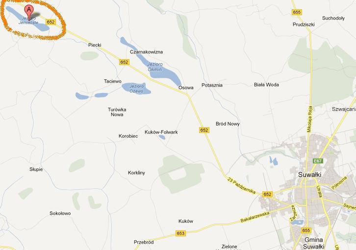 Jezioro Jemieliste na mapie