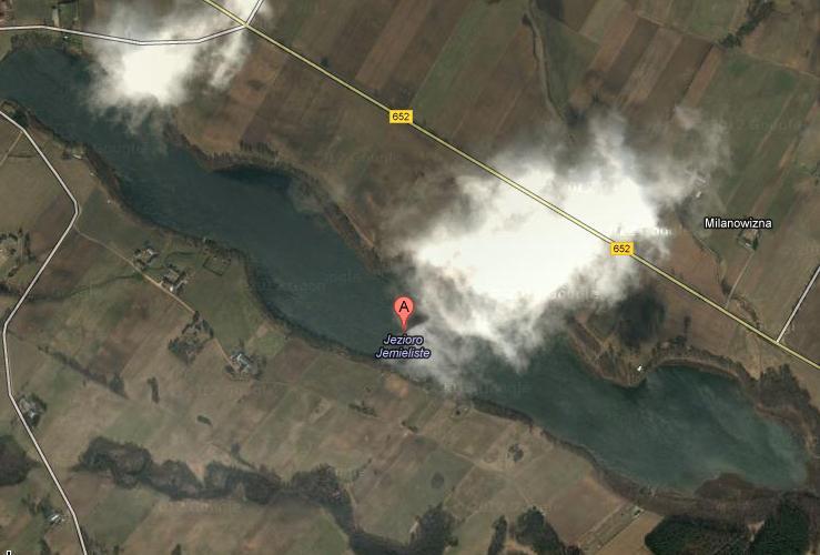 Widok z satelity na Jezioro Jemieliste